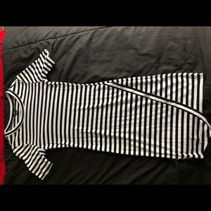 Black & White asymmetrical dress